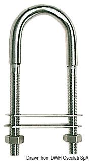 Cavallotto singolo inox 110 mm piastrina 60x15 mmMarca Osculati39.125.03-S