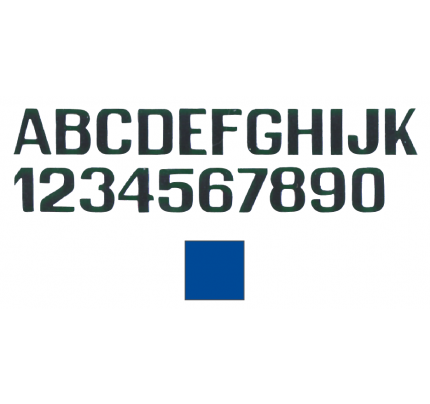 International Letterfix-PCG_FN59590140-LETTERE E NUMERI AZZURRE MM.200-20