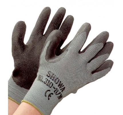 Showa-310BLK-Guanto in maglia di cotone/lattice, massimo grip-20