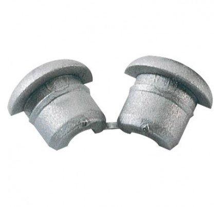 Ronstan-PNP54DS-Split Nylon Boccola, ID 4mm, Silver-20