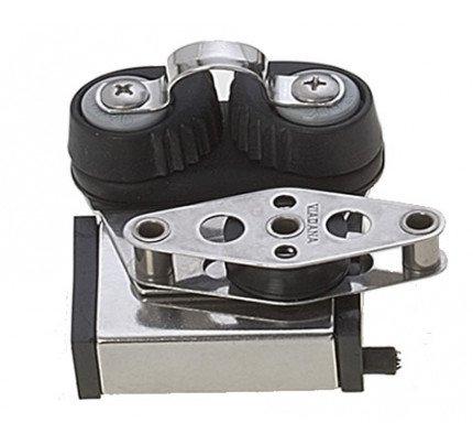 Viadana-24.48-Terminale acciaio con bozzello, arricavo e strozzascotte per rotaia 25mm-20