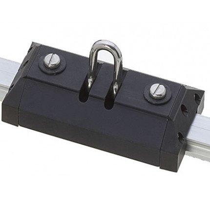 Viadana-24.81-Carrello lungo con grillo forgiato basculante per rotaia 31mm-20