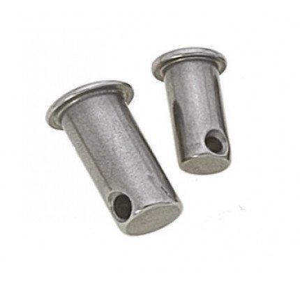 """Viadana-30.14-Pernetto forato, diametro perno 8mm, misura """"L"""" 18mm-20"""