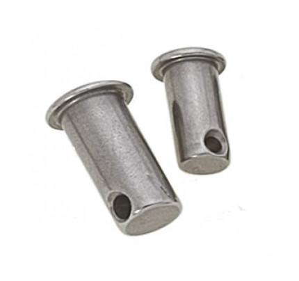"""Viadana-30.17-Pernetto forato, diametro perno 4mm, misura """"L"""" 25mm-20"""