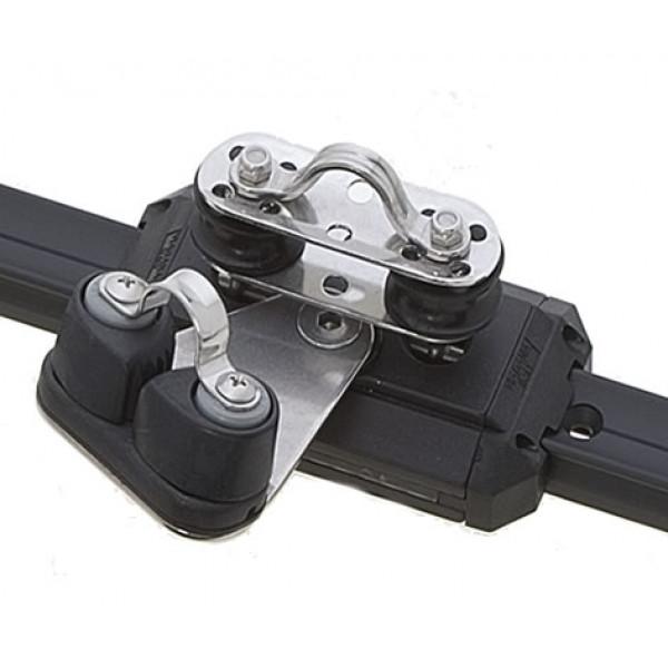 Viadana-24.42-Carrello con pulegge di rinvio basculanti e strozzascotte per rotaia 25mm-30