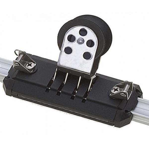 Viadana-24.44-Carrello regolabile per genoa con puleggia basculante per rotaia 25mm-30