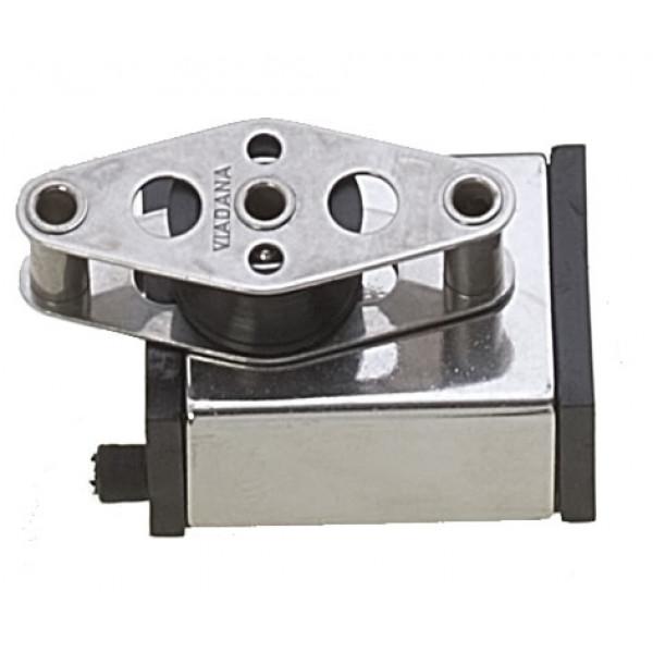 Viadana-24.47-Terminale acciaio con bozzello e arricavo per rotaia 25mm-30
