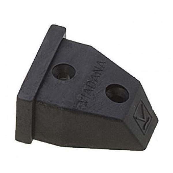 Viadana-24.86-Terminale ammortizzatore per rotaia 31mm-30