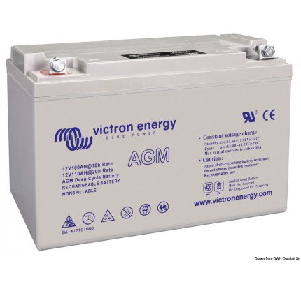 Victron Energy-12.416.01-VICTRON AGM Deep Cycle battery 12 V 110 Ah-2
