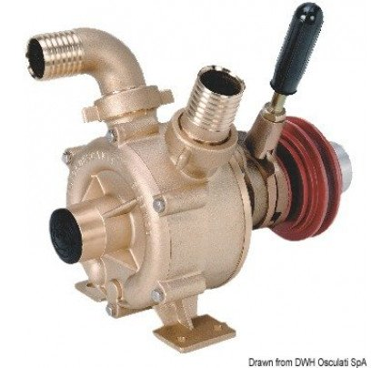Osculati-PCG_1261-Bronze self-priming impeller pump with mechanically-activated clutch-20