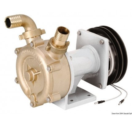 Osculati-PCG_1262-Bronze self-priming impeller pump with electromagnetic clutch-20