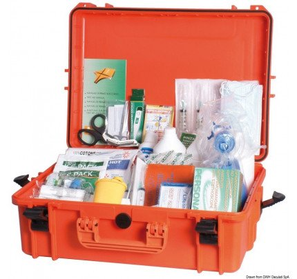 Osculati-PCG_35188-First aid kit, Table A, in IPX7 watertight case.Made in compliance with Ministerial Decree 01/10/2015 in force as of 18/01/2016-20