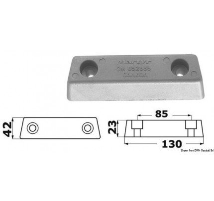 Osculati-PCG_3083-Base anode for Duo Prop foot-20