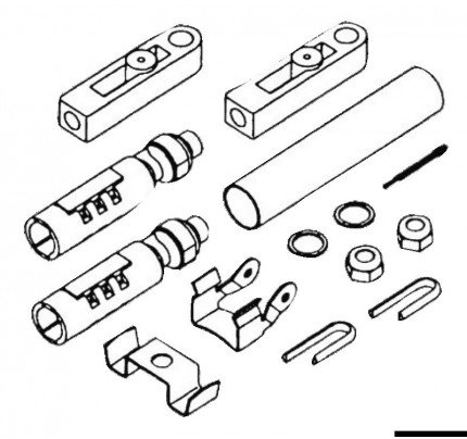 Osculati-45.057.00-K57 kit for C2/C8/C0 cables on Johnson/Evinrude-20
