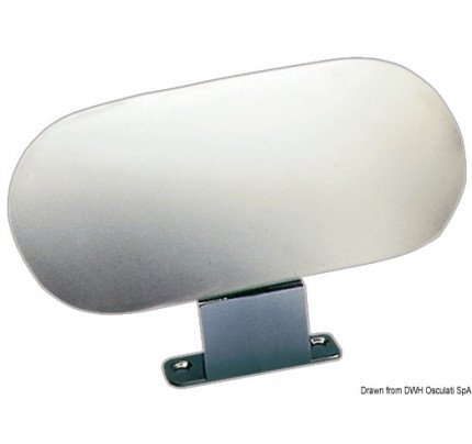 Osculati-64.496.00-Water-skiing mirror polished chrome-zama 84x184 mm-2