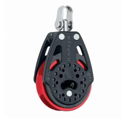 Harken-HK2135.RED-57 mm Ratchet Block Swivel, Red Sheave Singolo/girevole-20