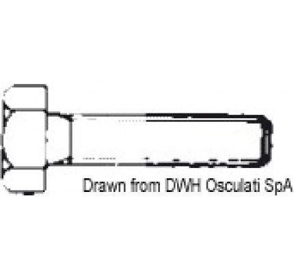 Osculati-PCG_13421-Threaded hexagon setscrew UNI 5739 DIN 933-2