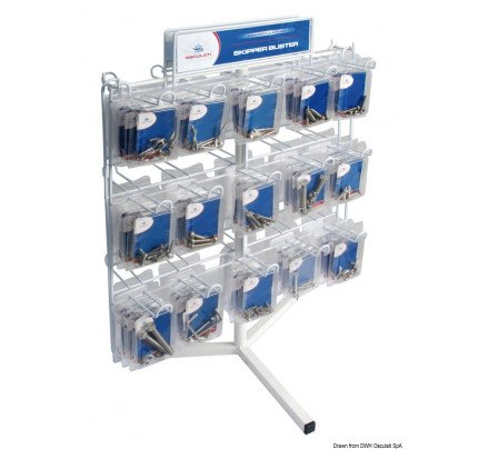 Osculati-PCG_30045-Bolts and screws in packs Counter stand, only / Set including 291 assorted packs + counter stand-20