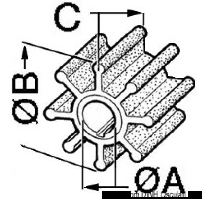 VDO Marine-PCG_3750-Impellers for outboard engines YAMAHA/MARINER-20