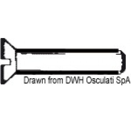 Osculati-PCG_13431-machine screw, slot head countersunk UNI 6109 DIN 963-2