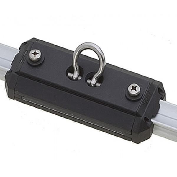 Viadana-24.71-Carrello lungo con grillo forgiato basculante per rotaia 25mm-30