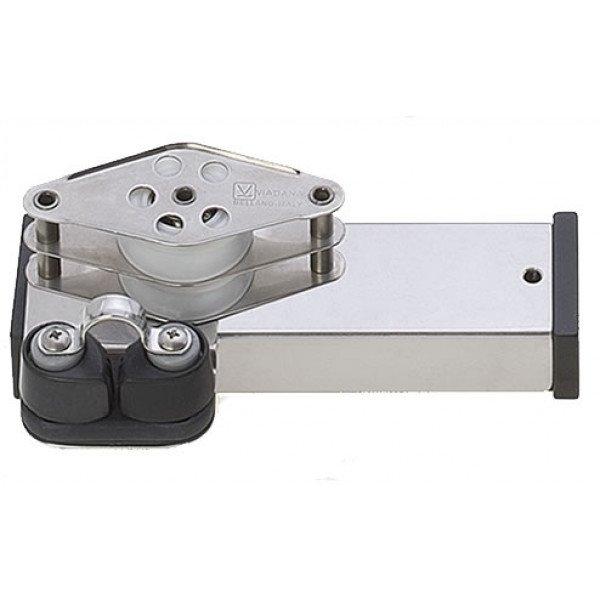Viadana-24.88-Terminale inox bozzello, arricavo e strozzascotte per rotaia 31mm-30