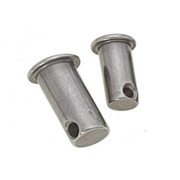 """Viadana-30.12-Pernetto forato, diametro perno 6mm, misura """"L"""" 25mm-30"""